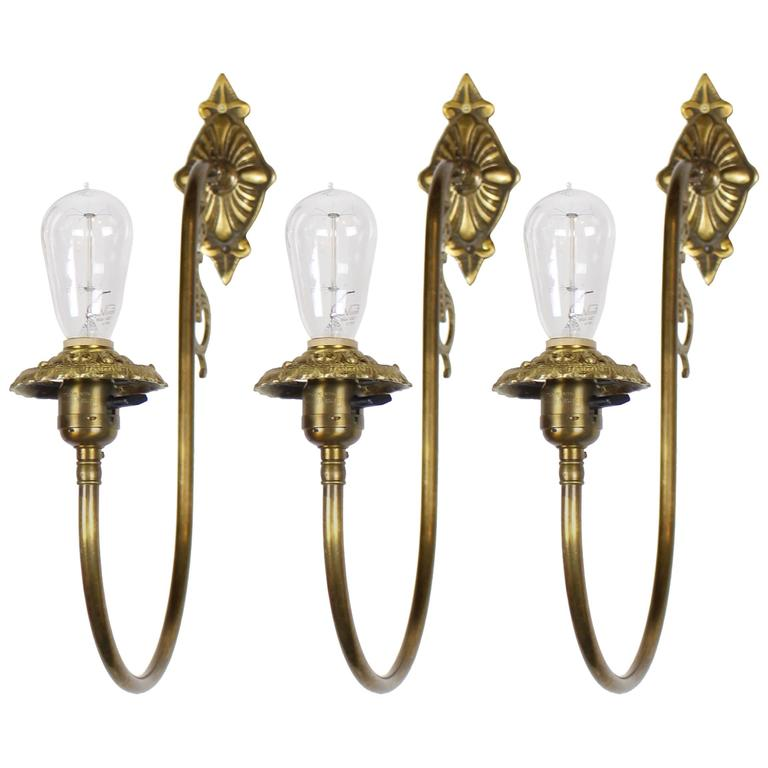 Small Electric Wall Sconces : Converted Gas-Electric Victorian Wall Sconces For Sale at 1stdibs