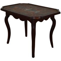 Louis XIV / Louis XV Oak and Leather Decorated Table