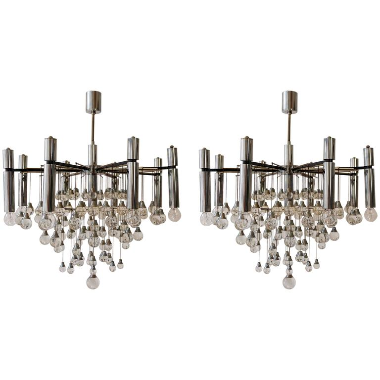 Pair of Sciolari Chandeliers