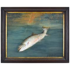 Brook Trout Painting by Sid Bickford