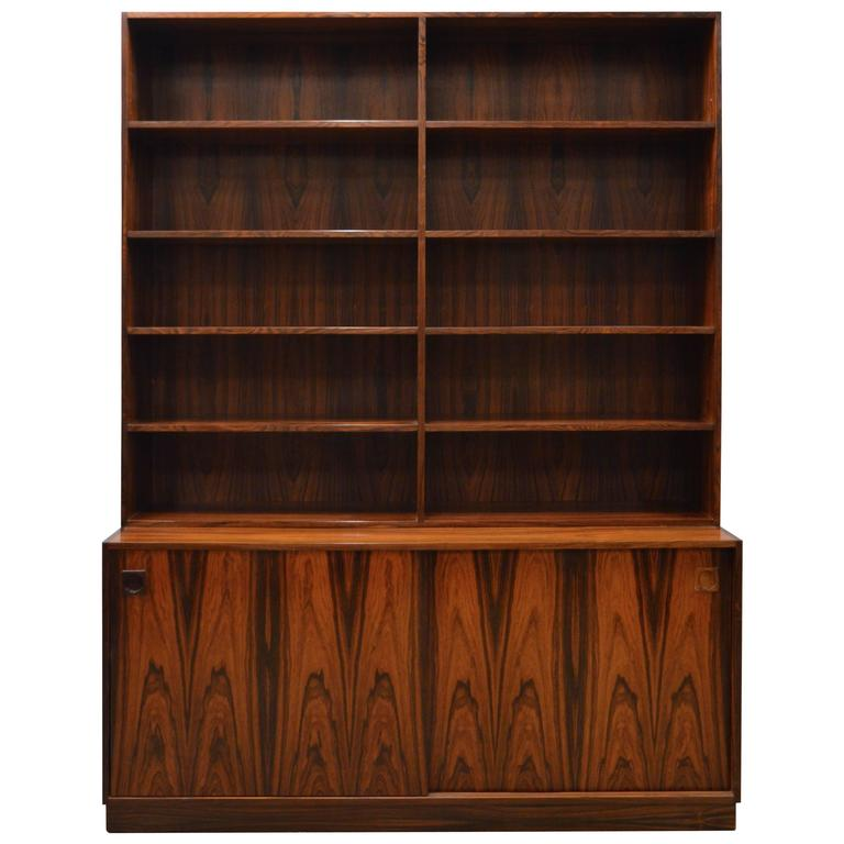 Mid Century Modern Danish Rosewood Bookcase For