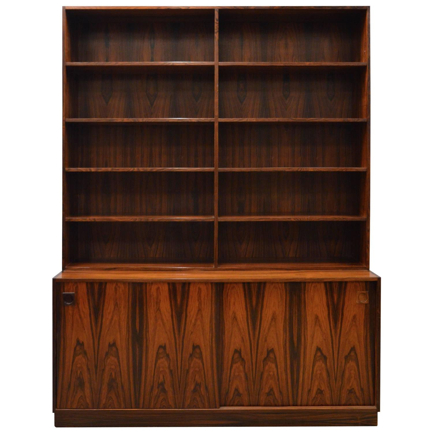 Modern room divider bookcase - Mid Century Modern Danish Rosewood Bookcase