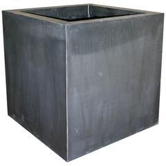 Square Contemporary Zinc Garden Planter Boxes