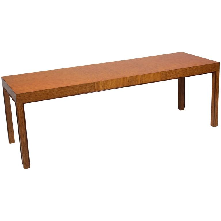 Bleached Mahogany Coffee Table By Edward Wormley For Dunbar For Sale At 1stdibs
