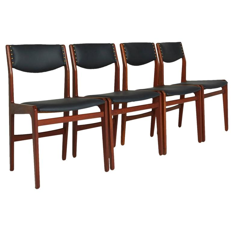 Set of Four Danish Modern Dining Chairs by Illums Bolighus