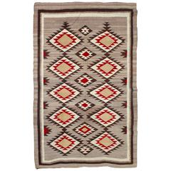 Early 20Thc Large Navajo Eye Dazzler Weaving / Rug