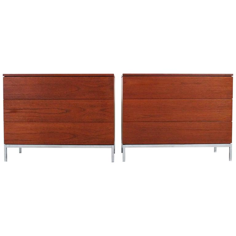 Pair of Teak Dressers by Florence Knoll