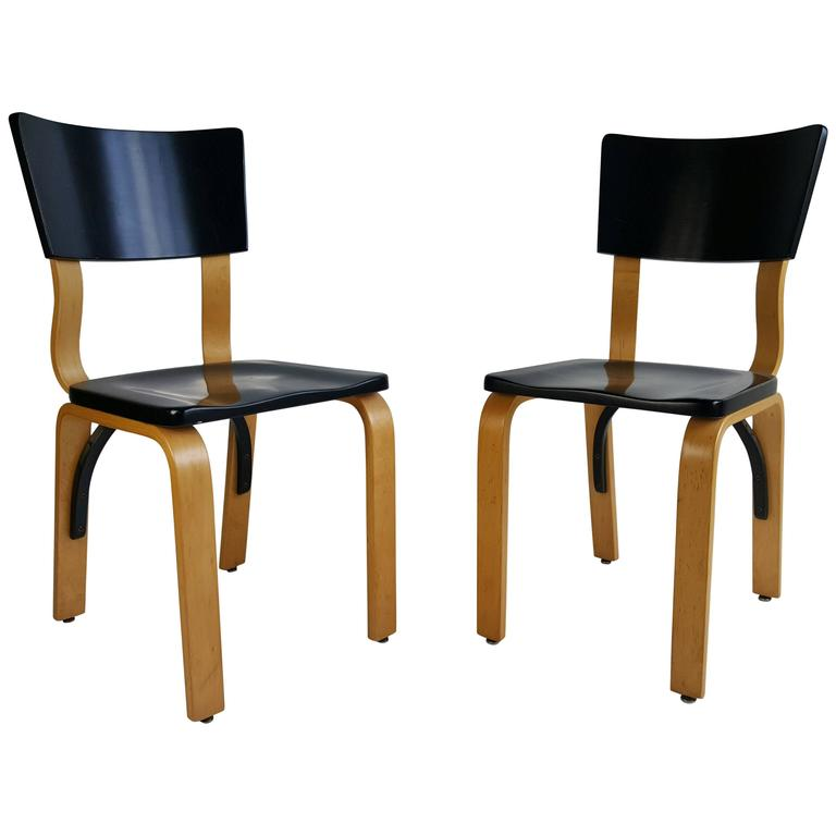 Classic Modernist Bentwood Side Chairs By Thonet For Sale At 1stdibs