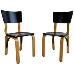 Classic Modernist Bentwood Side Chairs By Thonet