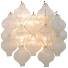Large Kalmar Tulipan Single Wall Sconce, Austria, 1960s