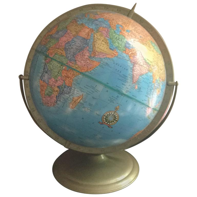 dating a crams globe Cram's universal terrestrial globe 105 no 105 circa 1940's this wonderful terrestrial desk globe is machine made with 12 color lithographed, coated paper gores over pasteboard.