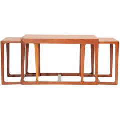 Set of Hans Olsen Nesting Coffee Table and Side Tables
