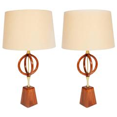 Pair of Orb Table Lamps