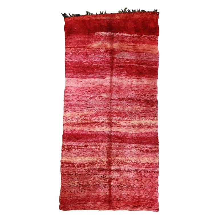 Red Vintage Moroccan Rug
