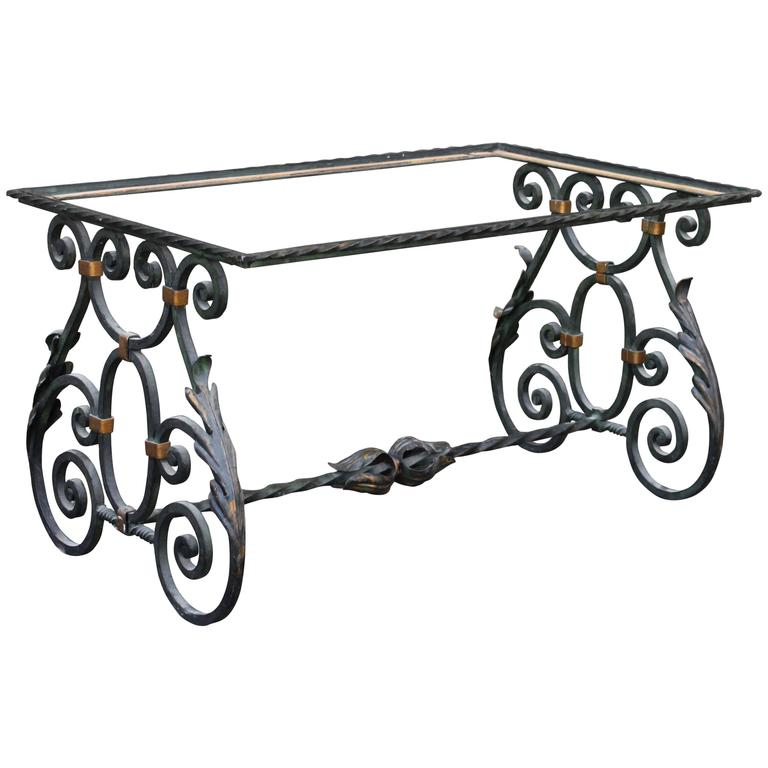 Wrought iron table base for sale at 1stdibs Wrought iron coffee table bases