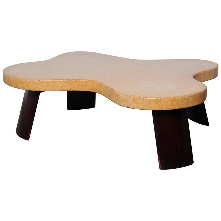 Amoeba Cork Top Coffee Table By Paul Frankl At 1stdibs