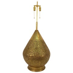 Monumental Brass Asian Lamp