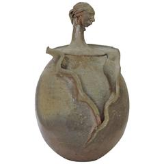 Organic Surrealist Pottery Vessel