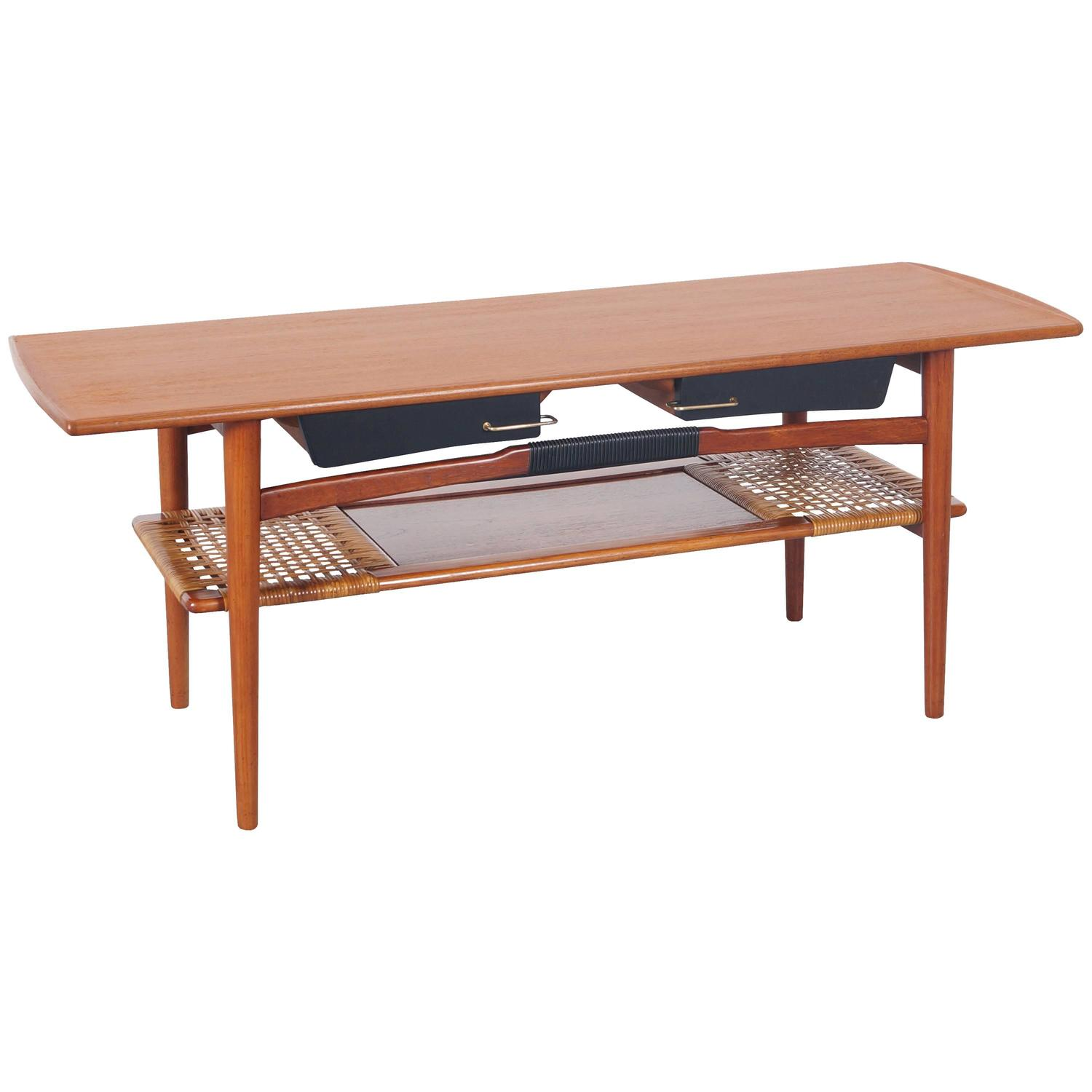 Danish modern teak coffee table for sale at 1stdibs for Modern coffee table sale