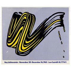 """Brushstroke"" Poster by Roy Lichtenstein"