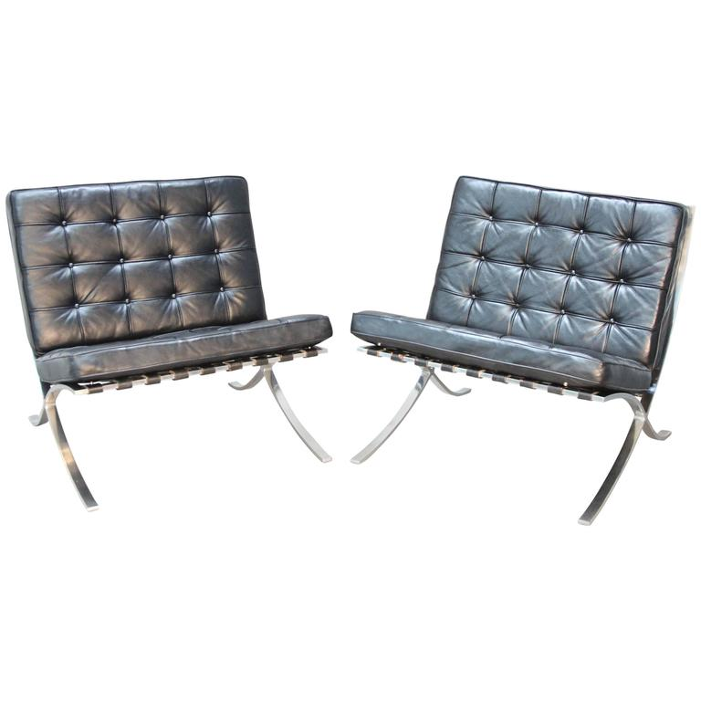 vintage barcelona chairs by mies van der rohe for sale at. Black Bedroom Furniture Sets. Home Design Ideas