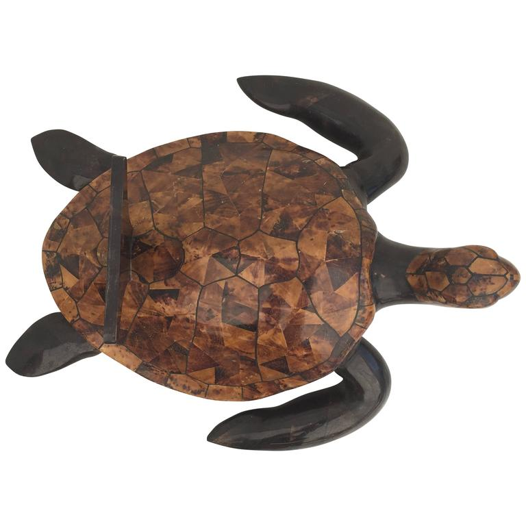 Tessellated Coconut Shell Turtle Coffee Table For Sale