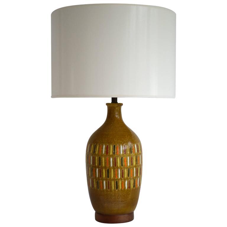 Midcentury Italian Ceramic Table Lamp For Sale