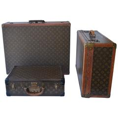 Set of Three Louis Vuitton Suitcases