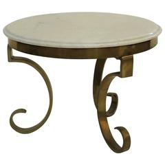 Solid Bronze and Marble Side Table by Muller´s