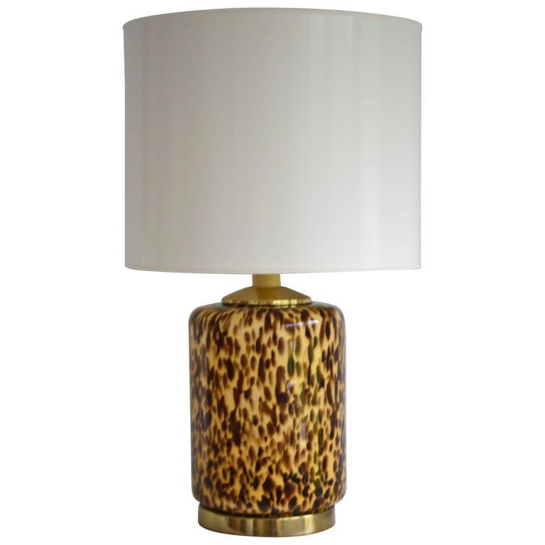 Midcentury Italian Glass Table Lamp