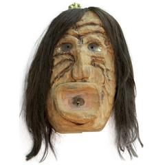 Iroquois Mask/ Horsehair Wig