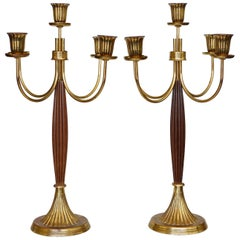 Dorlyn Silversmith Candelabras Attributed to Tommi Parzinger