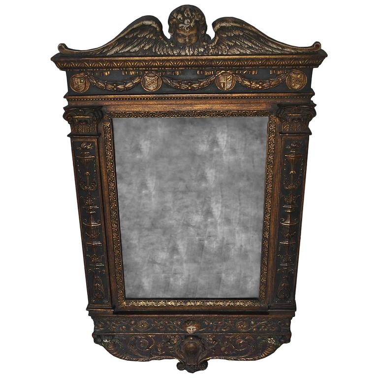 Early 20th Century Wood Carved Mirror