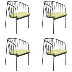 George Nelson Arbuck Iron Rod Outdoor Set of Four Chairs