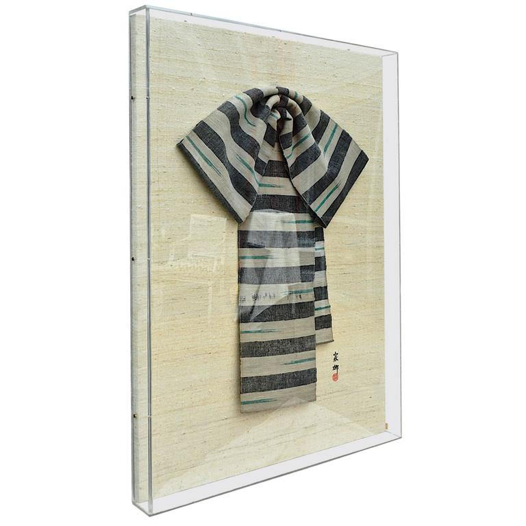 obi robe framed on linen and plexiglass for sale at 1stdibs. Black Bedroom Furniture Sets. Home Design Ideas