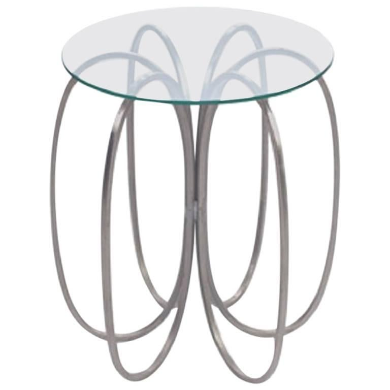 Metal and Glass Occasional Table