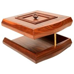 Desk Accessory File Tray in Solid Walnut Wood Monteverdi and Young, Mid-Century