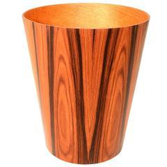 Scandinavian Waste Basket in Rosewood
