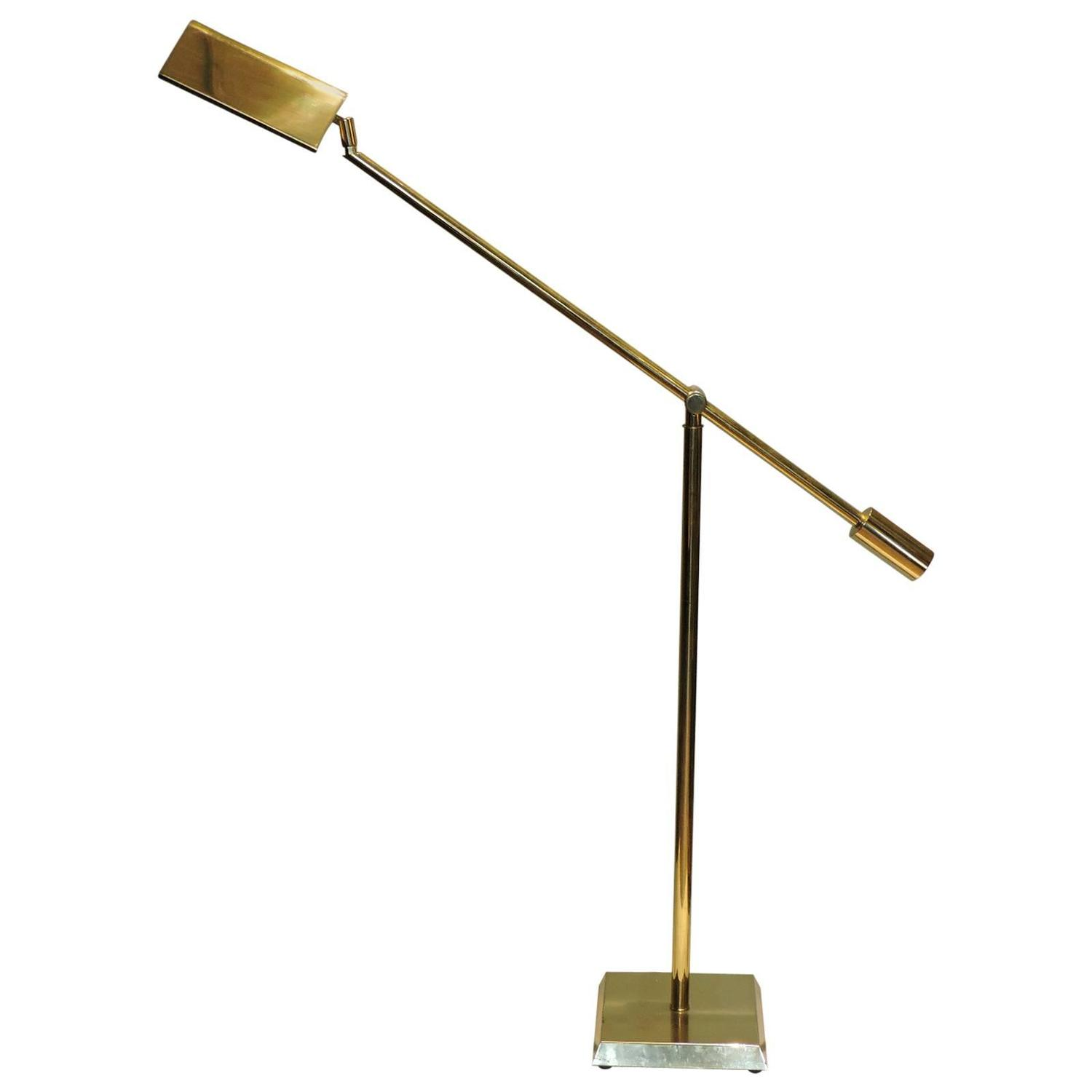 frederick cooper golden brass pharmacy style floor lamp at 1stdibs. Black Bedroom Furniture Sets. Home Design Ideas