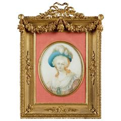 19th Century Gilt and Chiseled Bronze Frame for Miniature