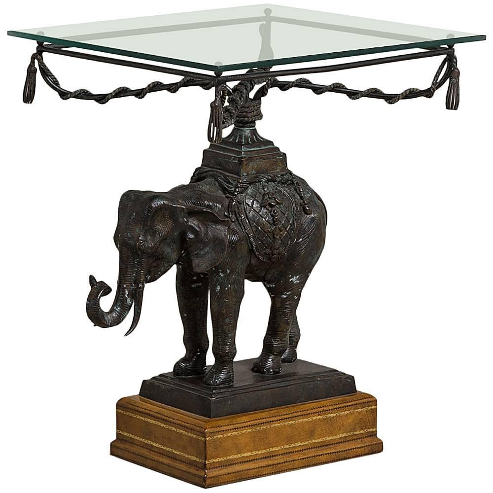 Maitland Smith Designed Elephant Side Table 1970s For