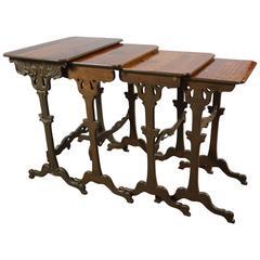 Emil Gallé French Art Nouveau Nesting Tables, circa 1900