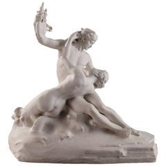 """""""Le Poète et La Sirène"""" by Emmanuel Hannaux, Sèvres Biscuit Porcelain"""