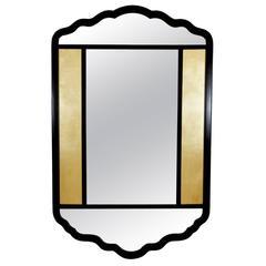 Ebonized Mirror with Églomisé Panels