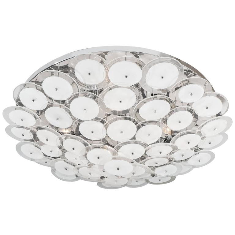 Murano Glass Disco Flush-Mount Chandelier