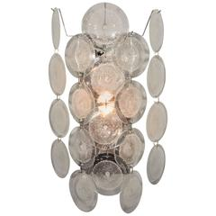 Pair of Large Murano Glass Disc Sconce