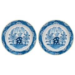 Antique Delft  Blue and White Chargers circa 1770
