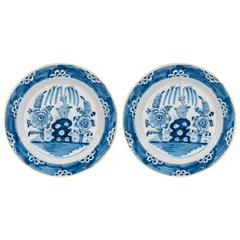 Antique Blue and White Delft Chargers
