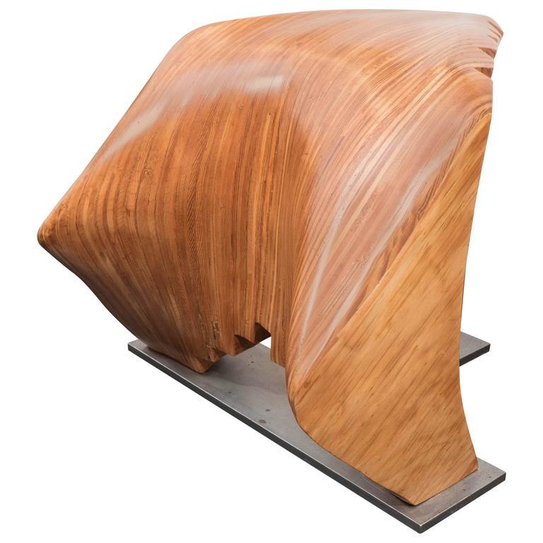 Sculptural Wooden Bench