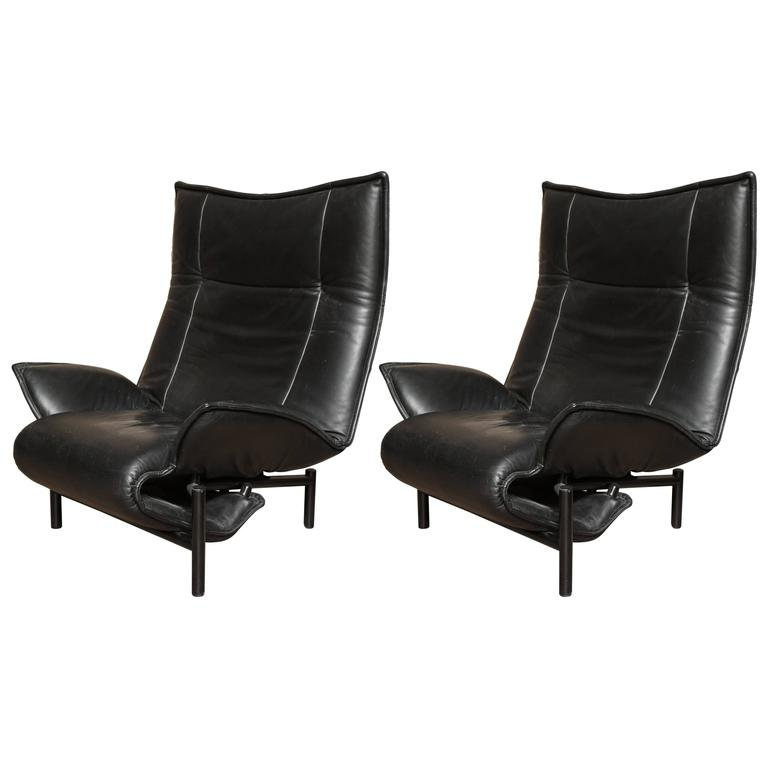 Pair Of Italian Cassina Veranda Lounge Chairs For Sale At
